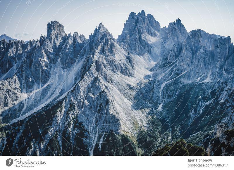 A breathtaking view of the mountain Cadini di Misurina in the Italian Alps, Dolomites alps sunset italian cadini misurina nature hiking travel landscape italy