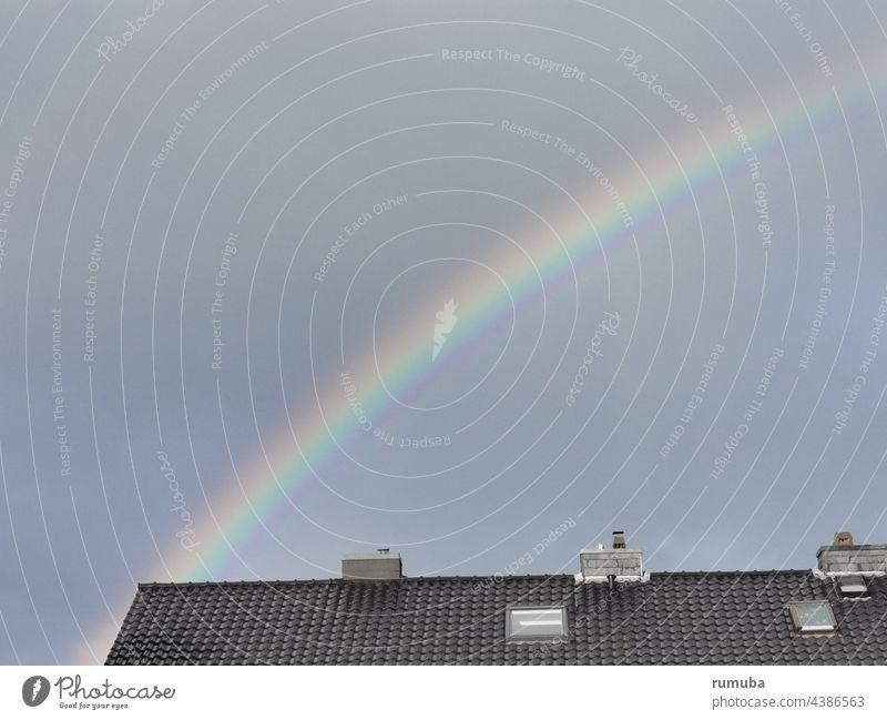 rainbow Colour Sky Arch Multicoloured Natural phenomenon Rainbow Light Beam of light Hope Prismatic colors