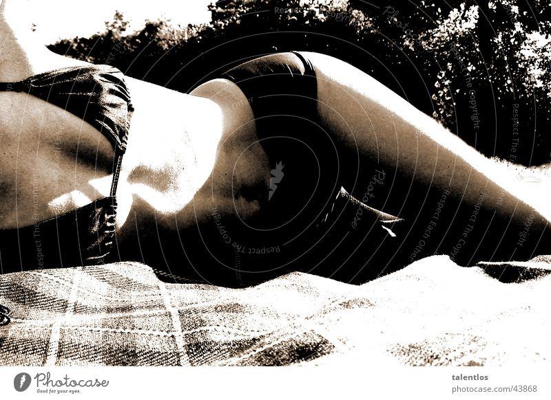 lascivious Woman Feminine Bikini Beach Hip Attractive Eroticism Chest Black & white photo