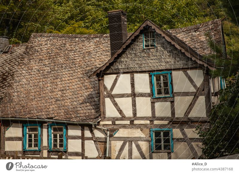 Architecture half-timbered houses abandoned architecture art attraction background brick building chimney crispy house enchanted europe exterior germany