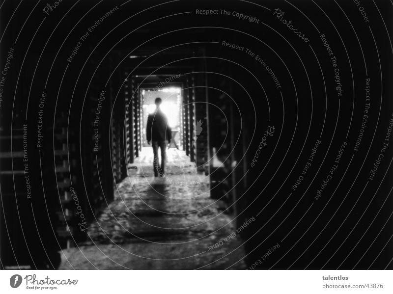 change of scenery Dark Light Black & white photo Walking Corridor