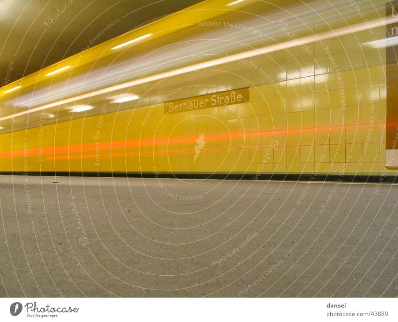 Berlin U-Bernauer Straße exit Underground Transport Driving Long exposure Dynamics