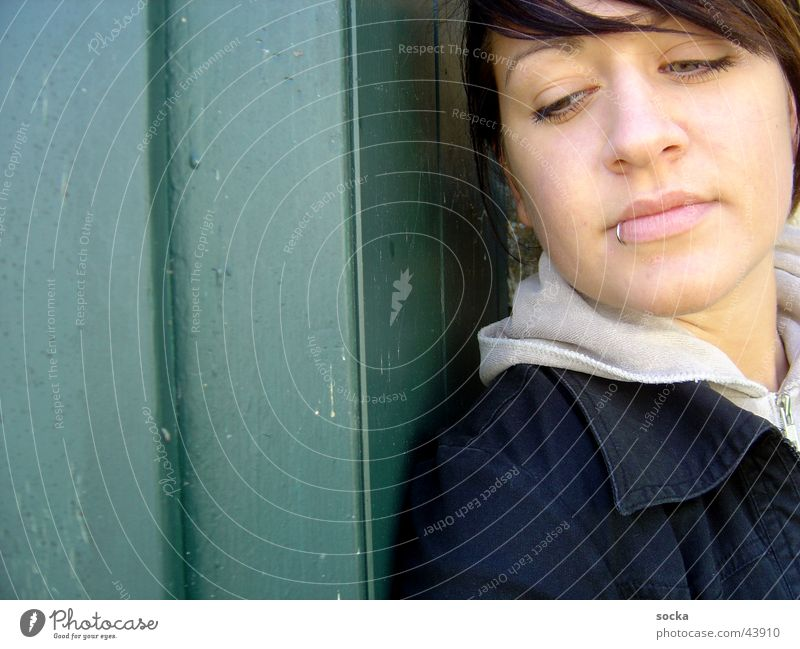 Woman Think Piercing Dreamily
