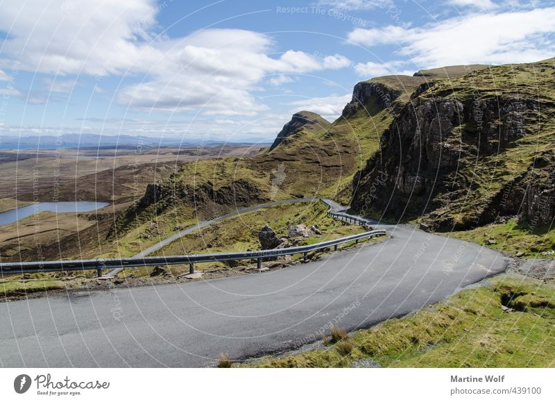 Nature Vacation & Travel Landscape Far-off places Mountain Street Freedom Exceptional Hiking Europe Heart Trip Scotland Great Britain Overpass Isle of Skye