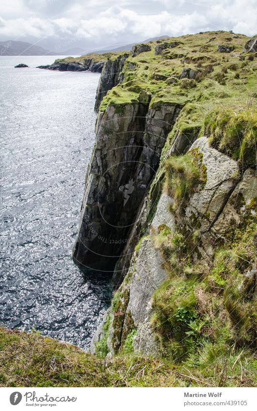 Nature Vacation & Travel Ocean Landscape Far-off places Coast Freedom Rock Hiking Europe Trip Infinity Cliff Atlantic Ocean Scotland Great Britain
