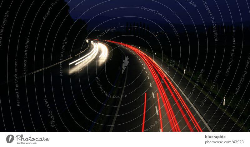 Speed #2 Red White Black Dark Highway Light Driving Night Long exposure Line Car Floodlight Bridge Street