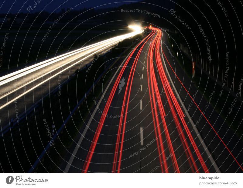 White Red Black Dark Car Railroad Speed Highway