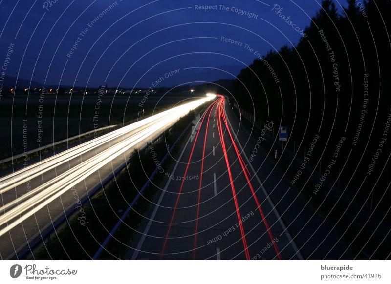 Sky White Blue Red Black Dark Car Line Speed Highway