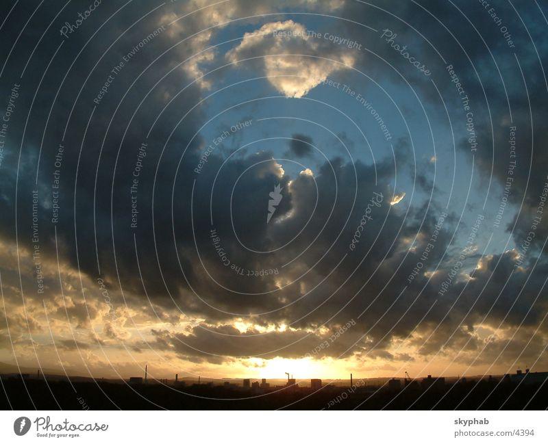 Sky in the evening Raincloud Evening Sun