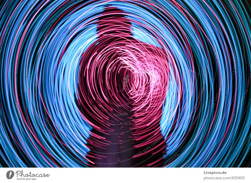 SHADOV RODDEN Human being Masculine Man Adults 1 30 - 45 years Art Painter Movement Rotate Illuminate Bright Retro Round Trashy Wild Blue Pink Black