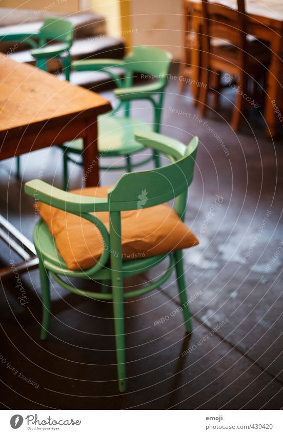 unattached Cushion Interior design Chair Kitchen Society Kitchen furniture Kitchen equipment Old Cuddly Colour photo Interior shot Deserted Day