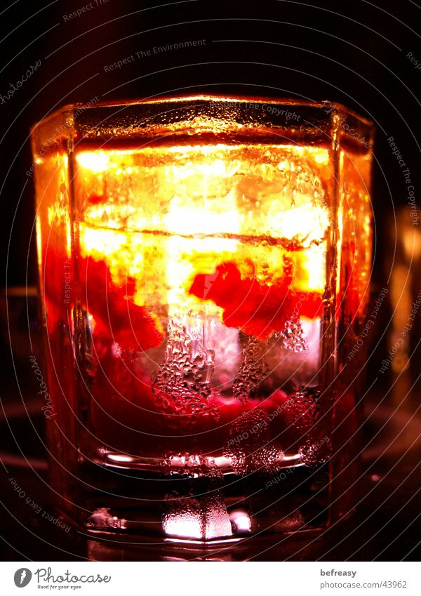 Ice Glass Candle Clarity Alcoholic drinks Short Strawberry cordial