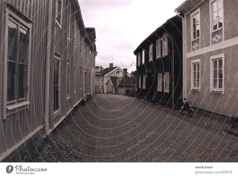 eksjö old town Alley Europe Sweden Old town pipi longstocking astrid lindgren Black & white photo