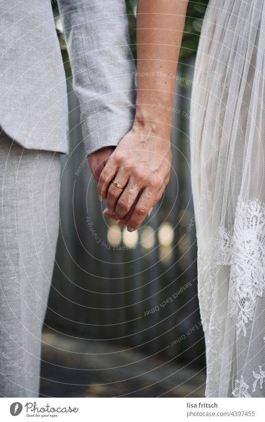 in love engaged married Wedding Together at the same time Love Wedding band man and woman Relationship Couple holding hands Lovers Trust Matrimony