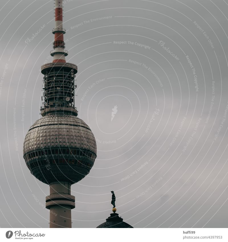 Berlin Television Tower Berlin TV Tower Landmark television tower Capital city Monument Downtown Berlin Alexanderplatz Television tower Tourist Attraction