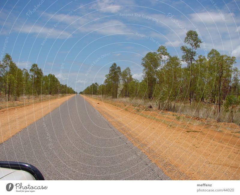 long long long long long road Australia Outback Loneliness Empty Right ahead Transport Line Street Gloomy
