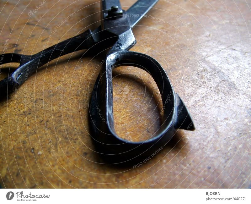 Old Metal Craft (trade) Workshop Tool Door handle Barn Household Cut Scissors