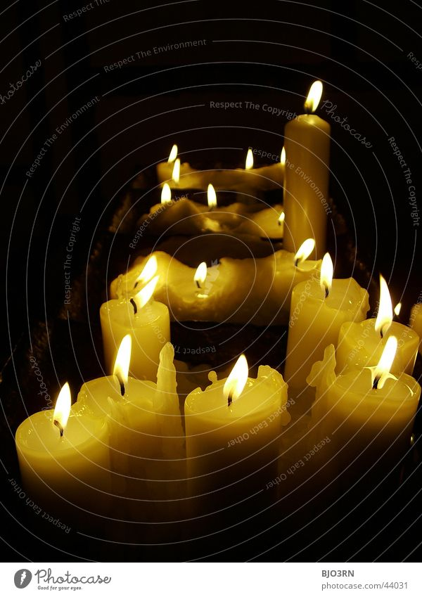 Black Dark Bright Blaze Grief Multiple Candle Things Prayer Flame Wax Religion and faith Candlewick