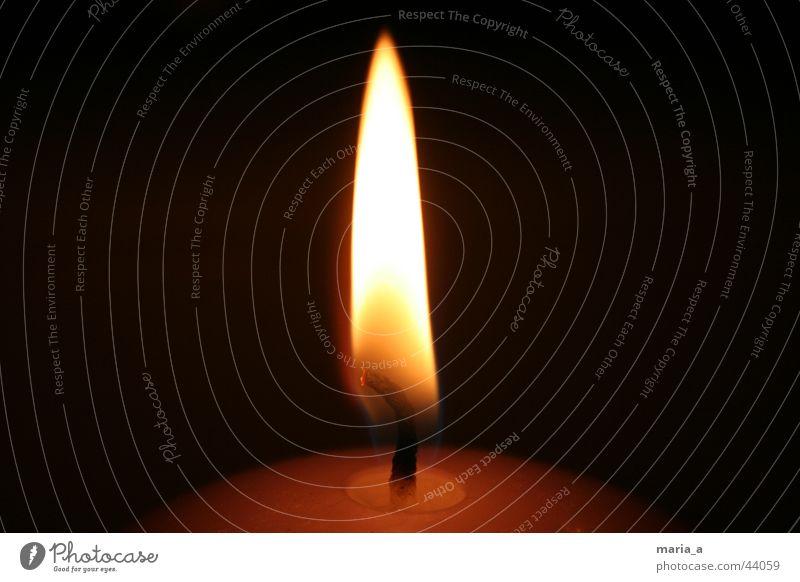 Dark Blaze Candle Round Flame Candlewick