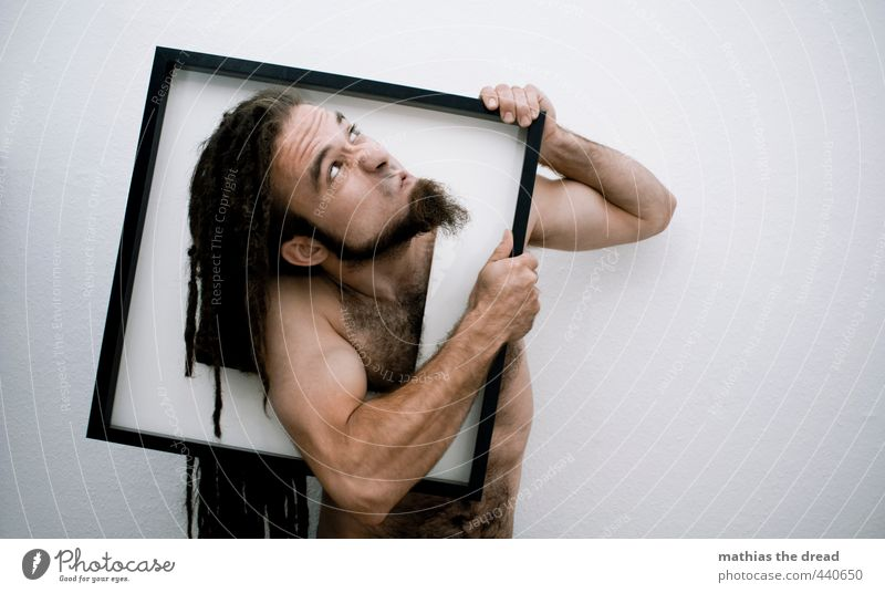 BREAK OUT Human being Masculine Young man Youth (Young adults) Body 1 18 - 30 years Adults Effort Uniqueness Whimsical Stress Dreadlocks Picture frame Outbreak