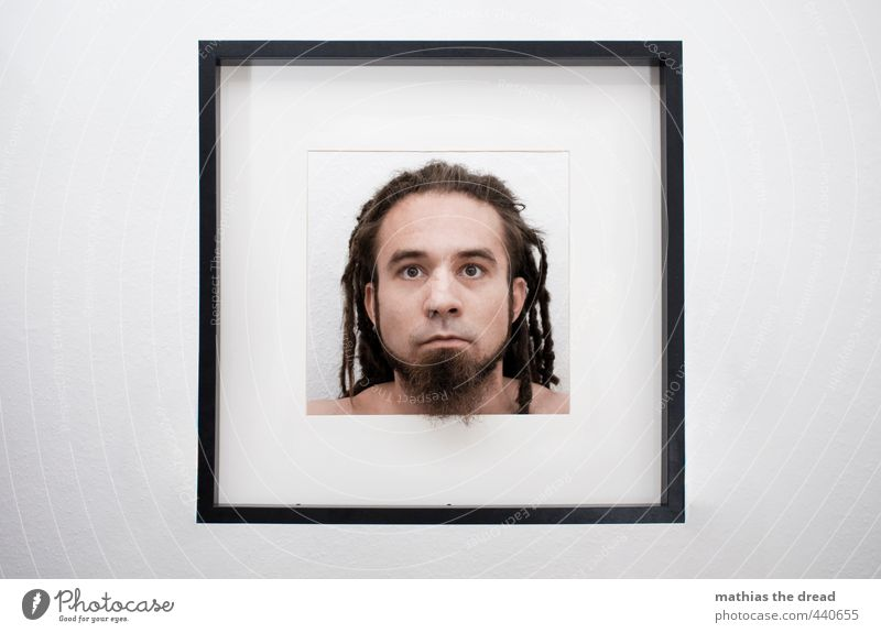 1500 - MATHIAS THE DREAD Human being Masculine Young man Youth (Young adults) Head Exceptional Sharp-edged Cold Image Frame Portrait photograph Motionless