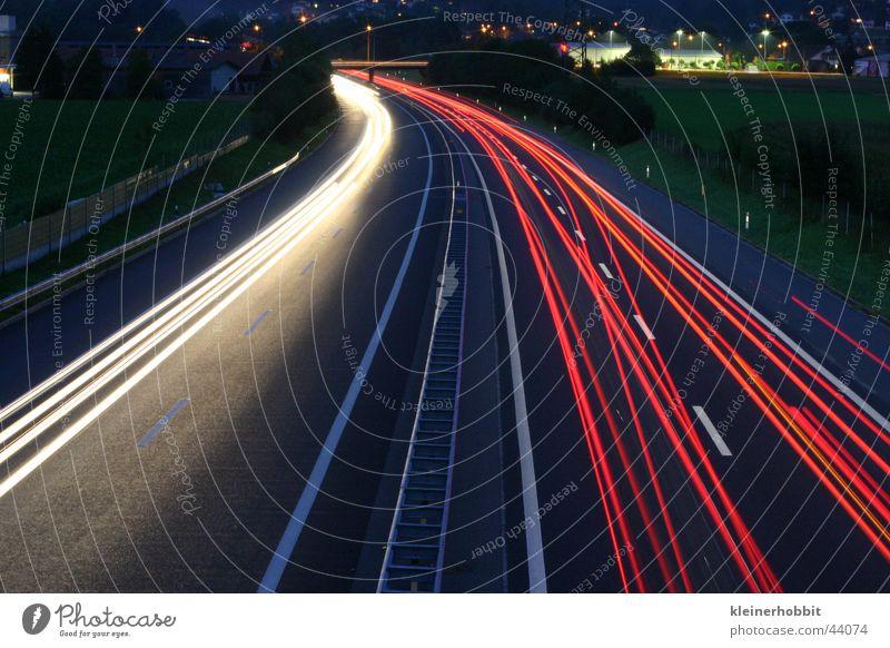 Motorway A1 By Night Highway Speed Dark Long exposure Light Transport