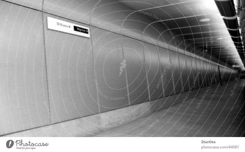 Wall (building) Architecture Empty Gloomy Infinity Tunnel London Diagonal England Way out