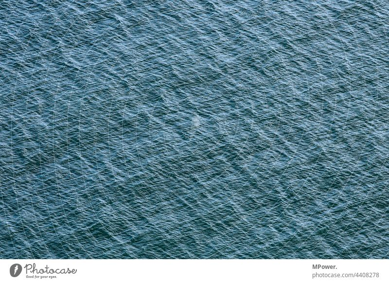 H2O Ocean Water Lake Waves Blue Baltic Sea North Sea texture Hissing structure Exterior shot Deserted