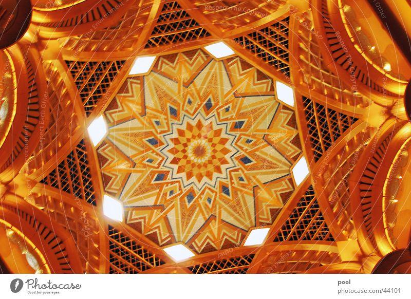 Emirates Palace Hotel Glittering Domed roof Interior design Light Architecture Abu Dhabi United Arab Emirates Gold Luxury Blanket
