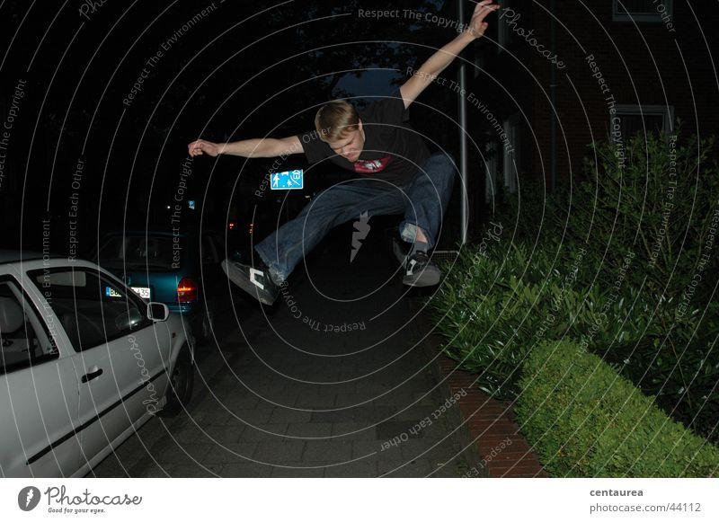Man Joy Jump Flying Masculine Longing Scream Guy
