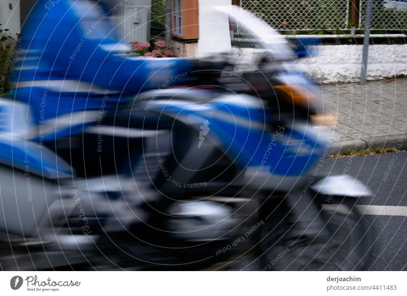 Police on a fast tour, on a motorcycle. Motorcycle Street Speed Vehicle Transport Motorcyclist Adventure Trip Horizontal Movement activity Road traffic