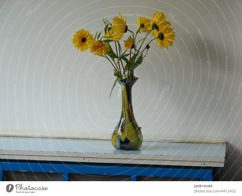 found a vase for flowers Flower vase Vase Decoration Blossom Blossoming Neutral Background Covers (Construction) GDR heating cladding Authentic Simple worn-out