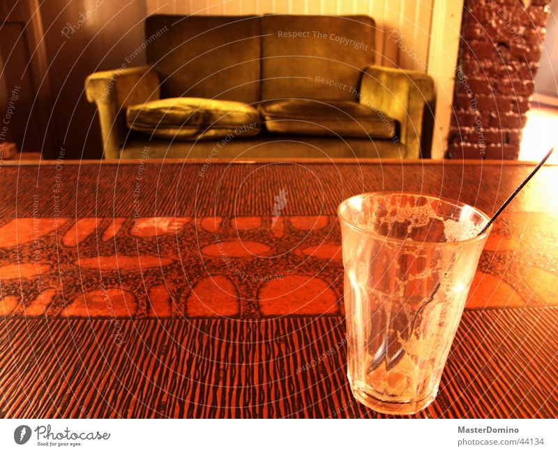 Glass Table Empty Coffee Sofa Café Photographic technology Café au lait