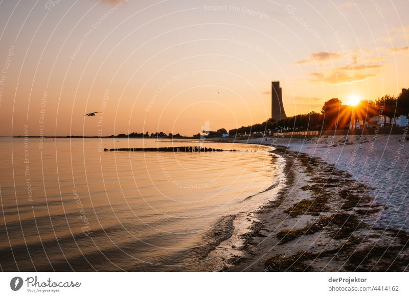 Memorial in Laboe in the morning against the light seashore Landscape Ocean Vacation & Travel Far-off places Trip Bathing place Beach Nature Beautiful weather