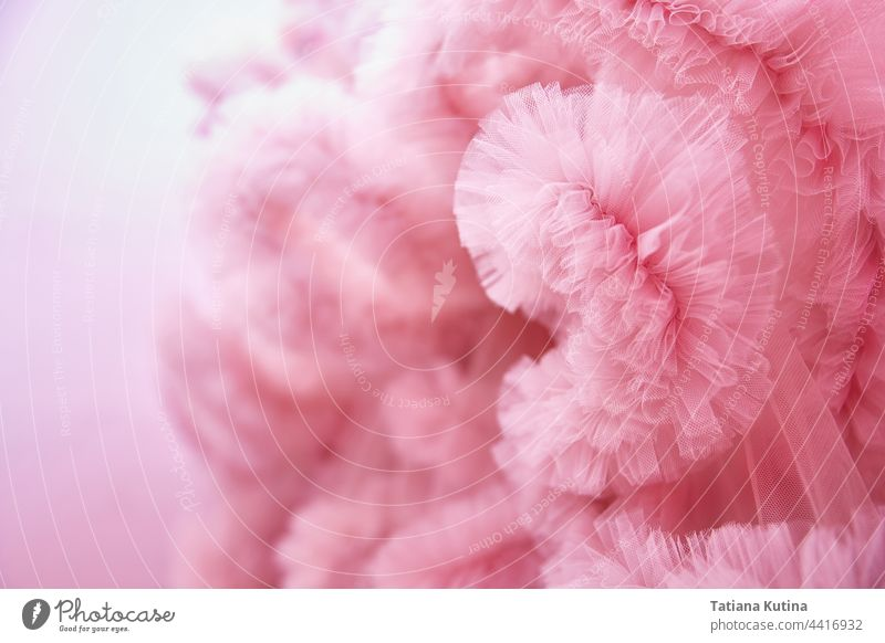 Texture Pink background from the airy fabric of the dress. Copy space for text about design and fashion pink texture light white abstract decorative pattern