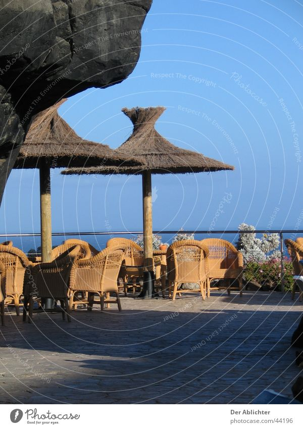 Canary Islands Pool Bar Fuerteventura Ambar Esquinzo Ocean Hotel Sunshade Riet Swimming pool Europe Stone Sit Shadow