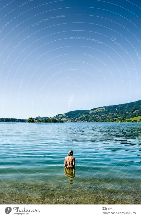 bathing mermaid Lifestyle Vacation & Travel Summer Summer vacation Mountain Feminine Young woman Youth (Young adults) 18 - 30 years Adults Nature Landscape