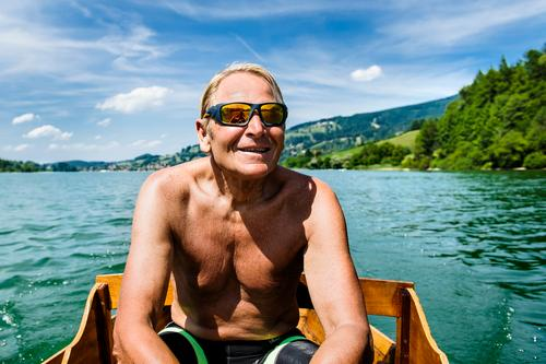 CAPTAIN R. Lifestyle Vacation & Travel Trip Summer vacation Cycling Masculine Male senior Man 1 Human being 60 years and older Senior citizen Nature Landscape