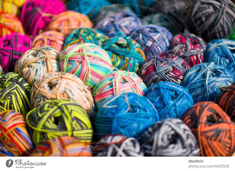 wool Selection variegated color photograph Colour colored Photography abundance Large accumulation of objects Handcrafts hobby Interior shot nobody variation
