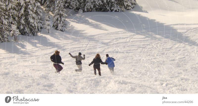 Joy Winter Snow Group Wet Running Speed Ski run Bernese Oberland Gstaad