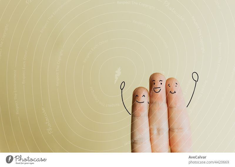 Three fingers saluting to camera, friendship, love concept, minimal and copy space affectionate girlfriend showing simplicity togetherness boyfriend finance