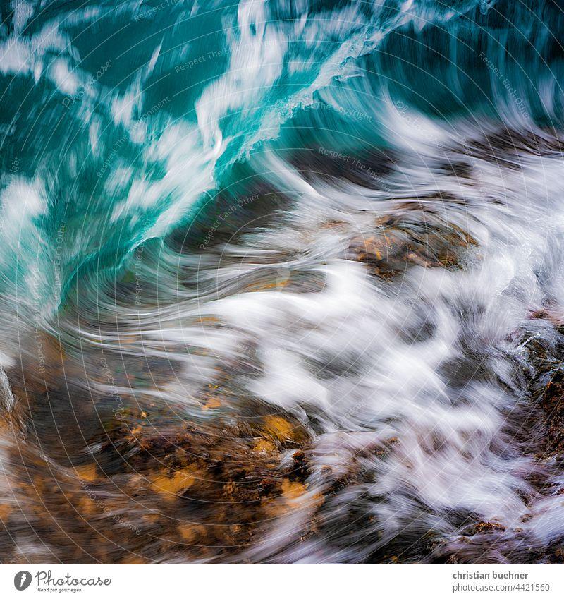 water and rock Water Ocean wave vigorous Nature White crest Beach ocean shape Effervescent brsun blsu elemental fluid Stone Atlantic Ocean Life
