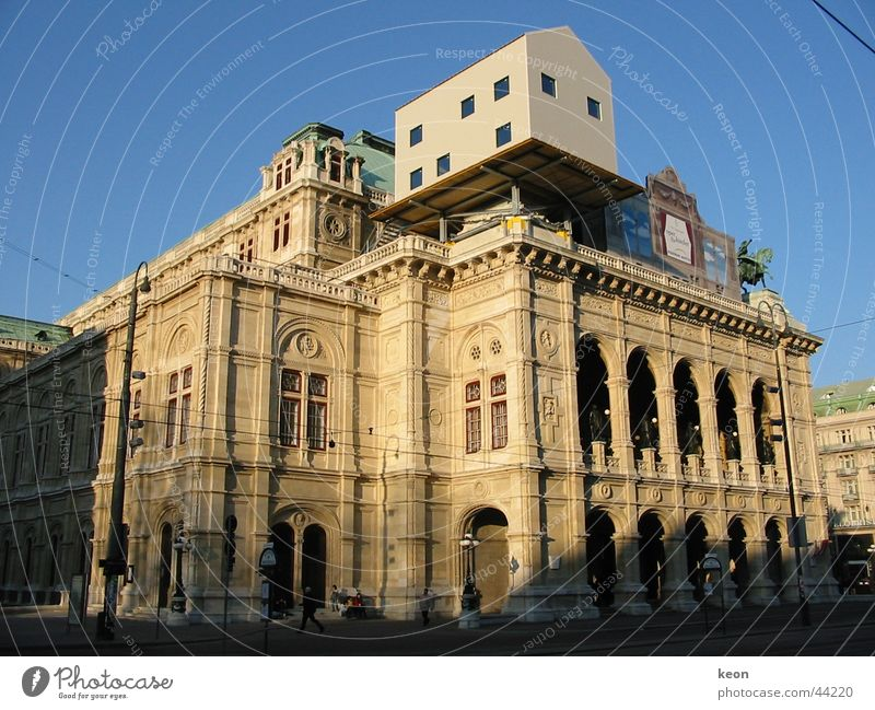 On top Placed on House (Residential Structure) Restoration Vienna Architecture on the house Opera scurill