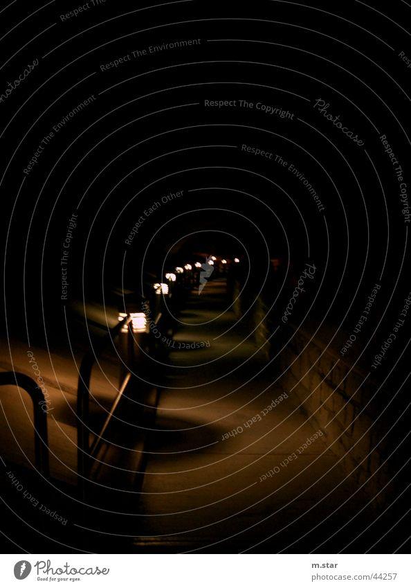 street lights in a row Street lighting Lantern Dark Things sclack Stupid Lanes & trails