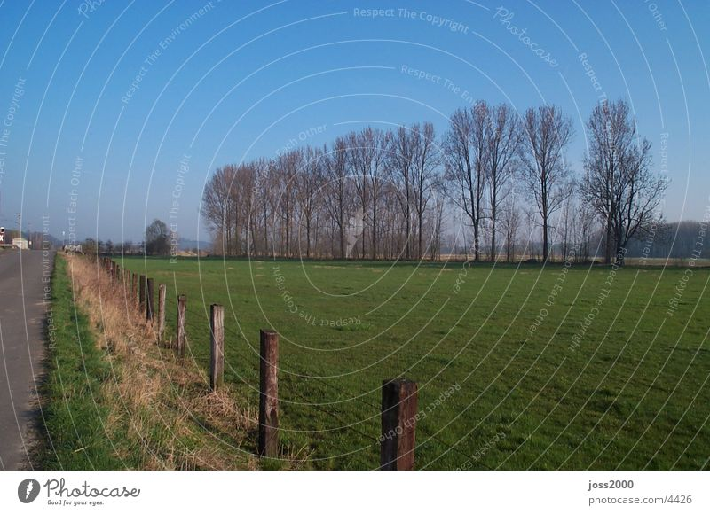 Landscape photograph from Dehnsen Lower Saxony stretching Alfeld Field next to the line