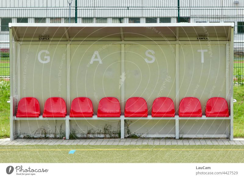 Away game Foot ball home game Guest away game Football pitch Leisure and hobbies Stands Audience Stadium Sporting event Ball sports empty ranks
