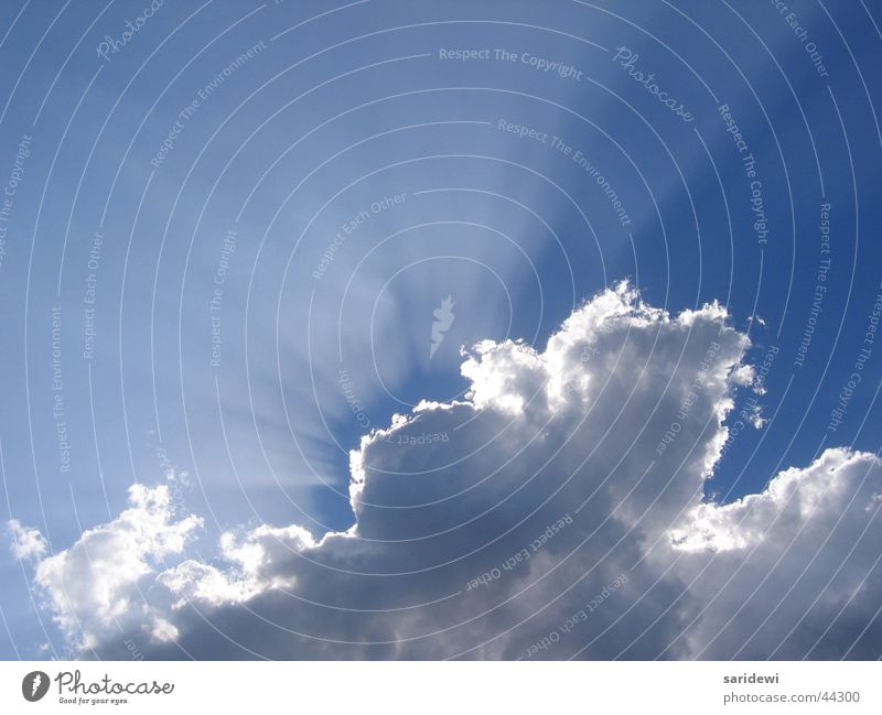 game of hide-and-seek Clouds Sunbeam Air Breathe Glimmer White Sky Lighting Freedom Blue