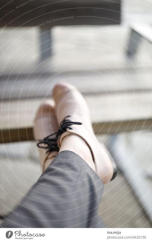 pink shoes Footwear High heels suit-wearer Business Elegant Fashion Woman feminine application interview applicant Apply job Break Rest rest Pink Gray elevate