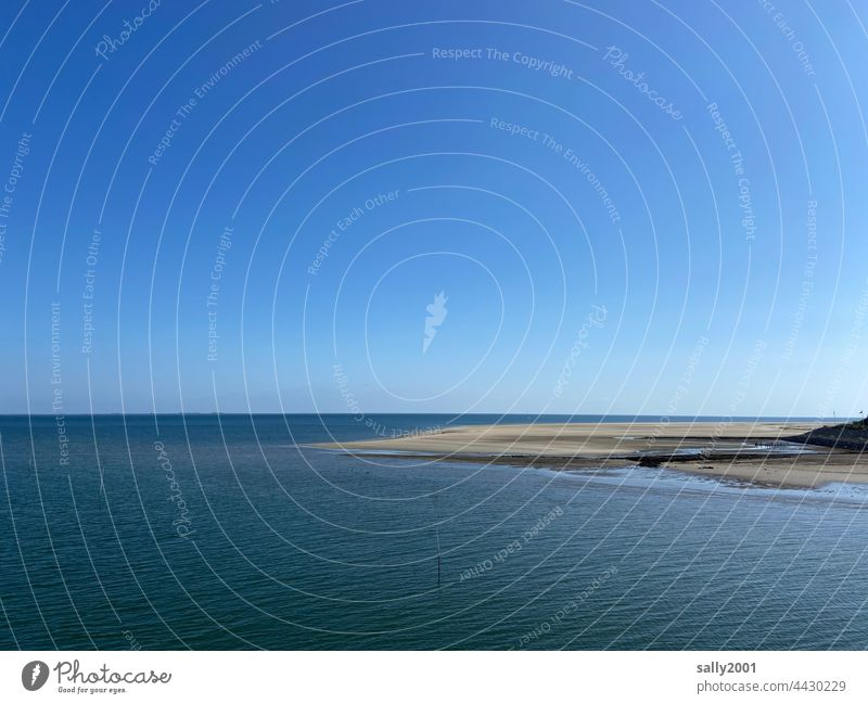 wide calm summer north sea Ocean North Sea Low tide Tide Relaxation Mud flats tranquillity Amrum Landscape Water Blue Sky Horizon Vacation & Travel Sand