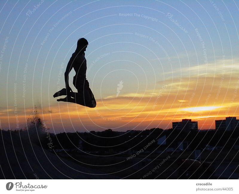 jumping hias Gravel plant Jump Air Back-light Sunset Black Red Dark Man Joy Sand Blue Orange siluette Mattias pocking slip ring